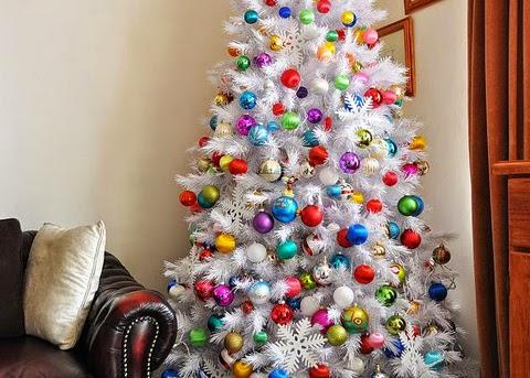 Mundo fili ideas para navidad y pinos coloridos - Arboles de navidad blanco ...