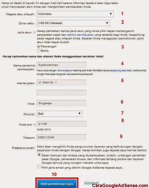 formulir pendaftaran google adsense