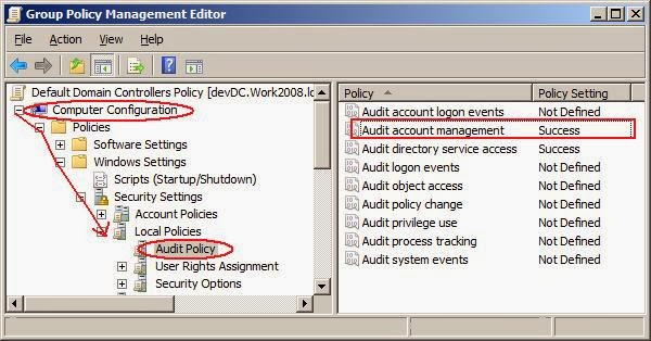 Steps to enable Event ID 4740 - Active Directory user account unlocked Event