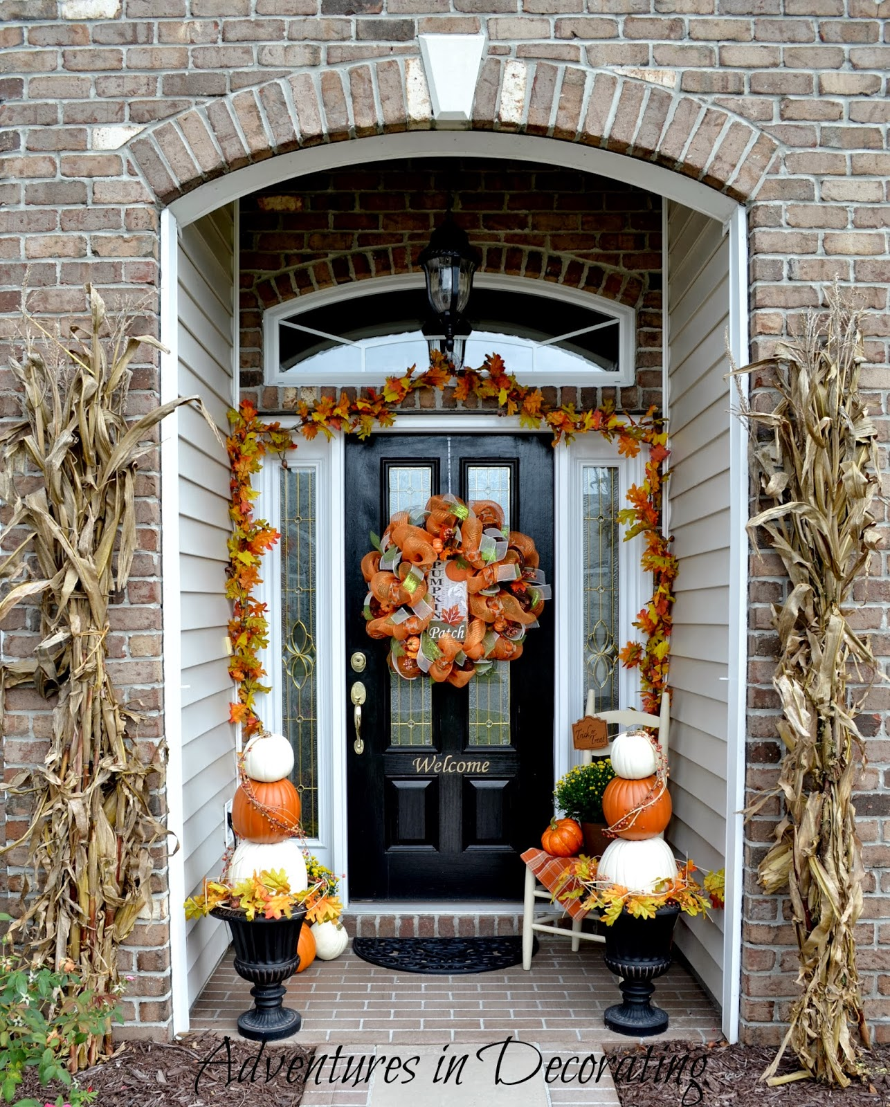 Front Porch Decorating: Adventures In Decorating: Our Fall Front Porch