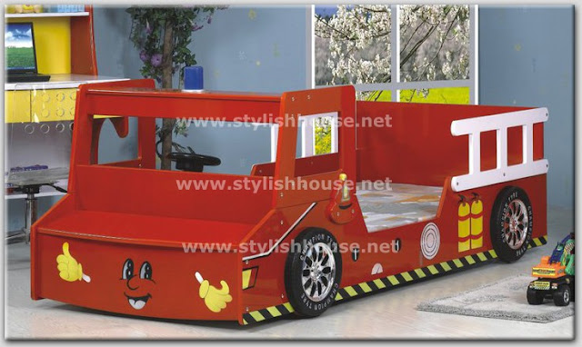 Kids Bed Furniture Set Shape As Fire Fighting Car Stylish Home Decors Food Recipes Beauty