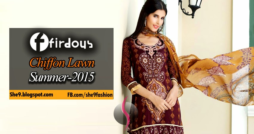 Firdous Chiffon Lawn Catalogue
