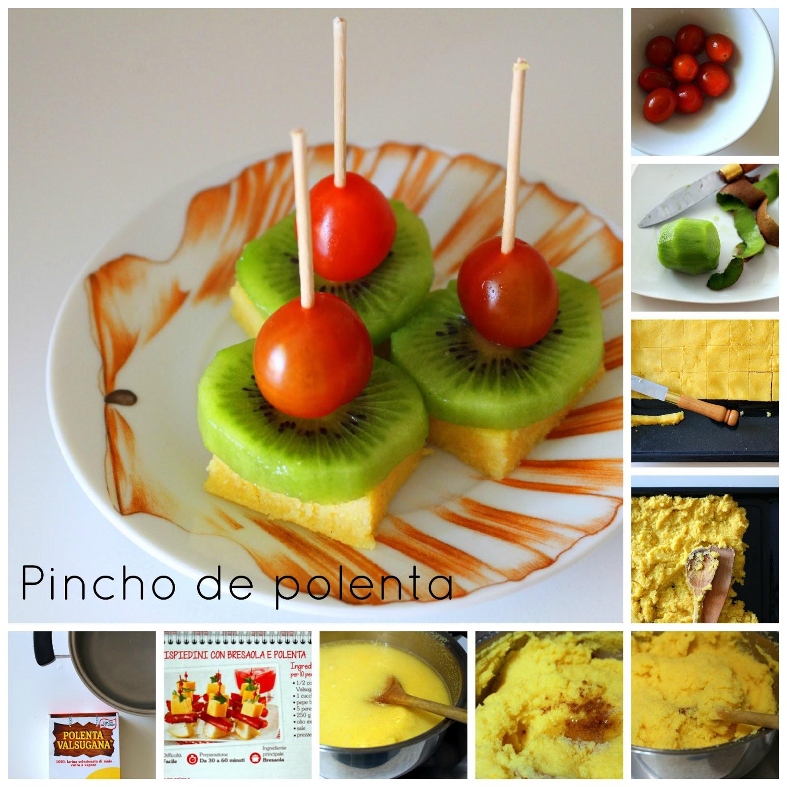 El fest n de marga pincho fr o de polenta dos aperitivos for Canapes faciles y ricos