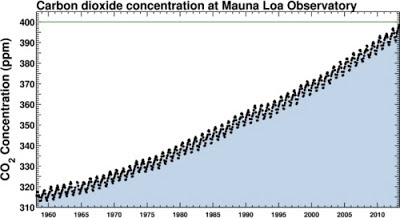 50 years of carbon dioxide levels