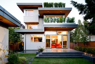 Atap rumah sebagaiman mestinya berfungsi sebagai pelindung rumah dari terik sinar matahari Model Rumah Minimalis Atap Cor Yang Sedang Populer Dan Marak
