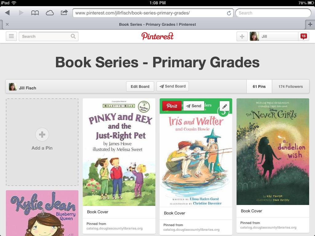 http://www.pinterest.com/jillrfisch/book-series-primary-grades/
