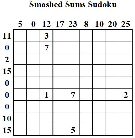 Smashed Sums Sudoku (Daily Sudoku League #11)