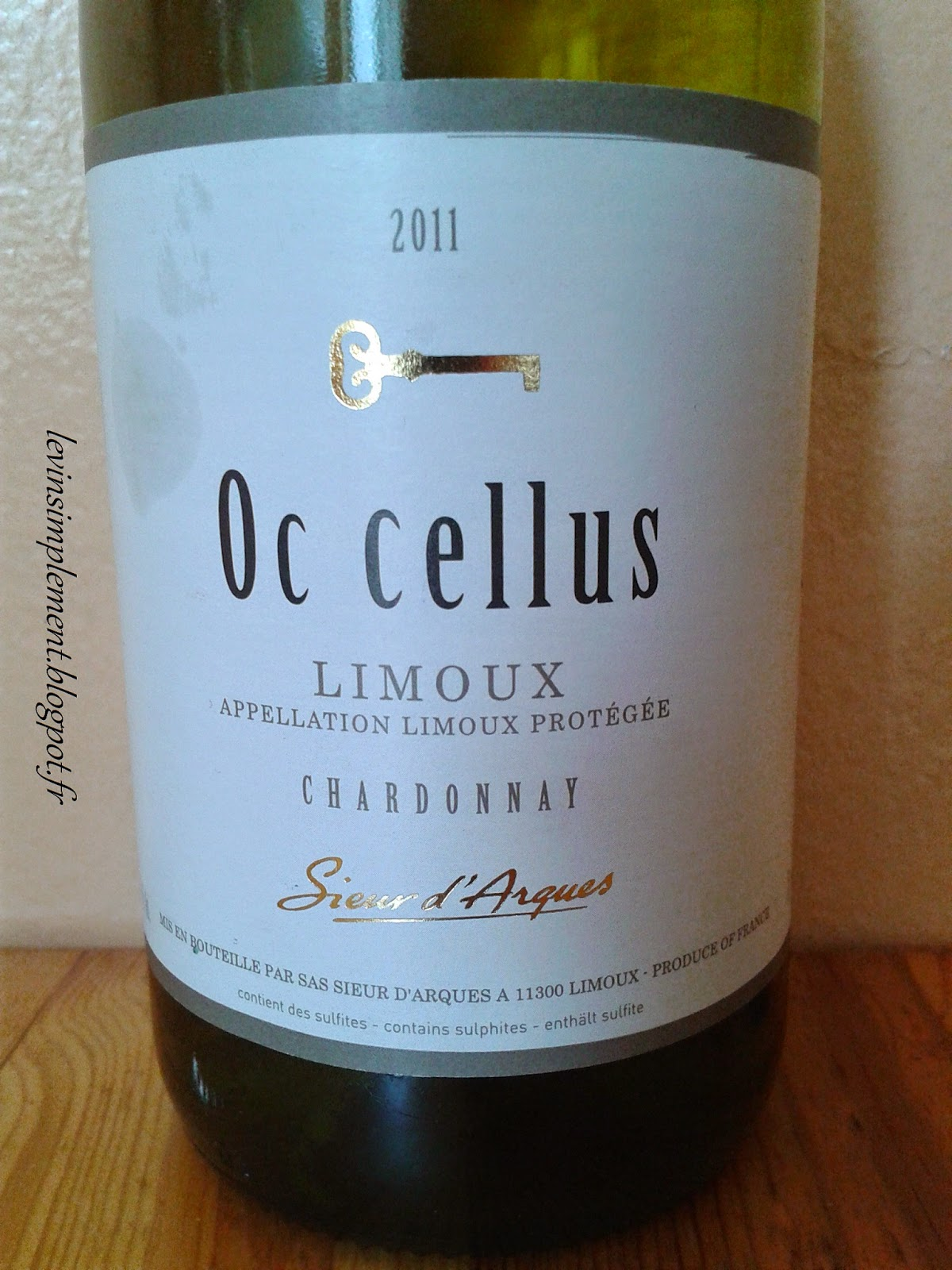 le vin simplement sieur d 39 arques oc cellus 2011 languedoc roussillon limoux blanc. Black Bedroom Furniture Sets. Home Design Ideas