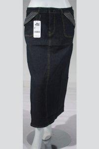 Rok Jeans 908 - Hitam (Toko Jilbab dan Busana Muslimah Terbaru)
