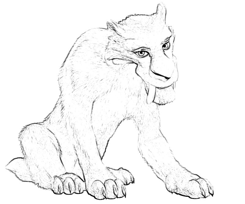 diego ice age coloring pages - photo#3