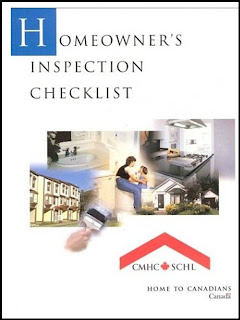 Homeowner's Inspection Checklist, screenshot CMHC