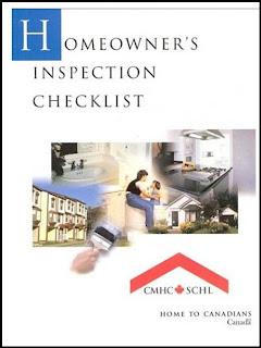 Homeowner's Inspection Checklist, screenshot CMHC