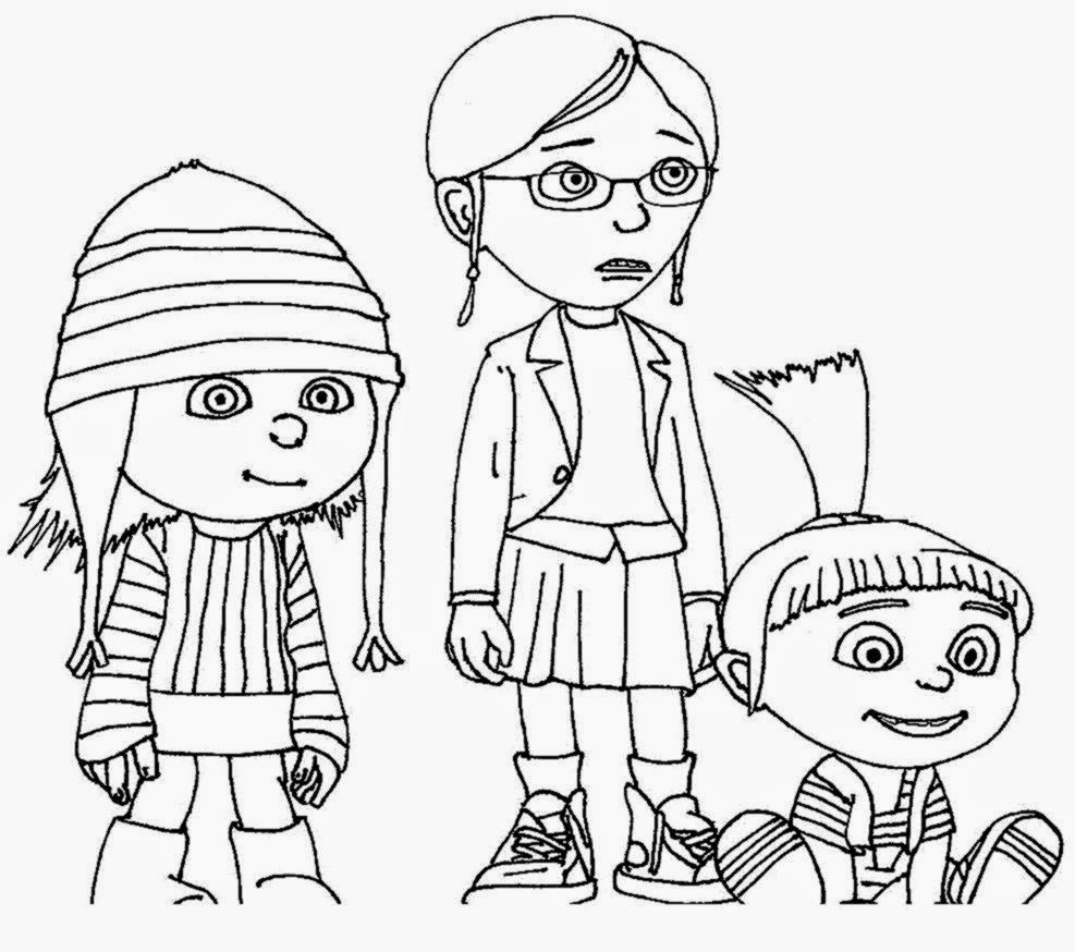 Despicable me coloring pages free coloring pictures for Despicable me 2 coloring pages