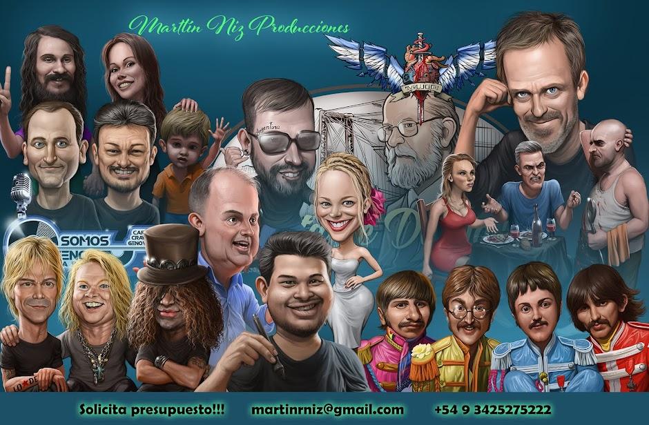 Caricaturas y Retratos Digitales y Artesanales. Animaciones 2D y 3D. ilustraciones en gral.