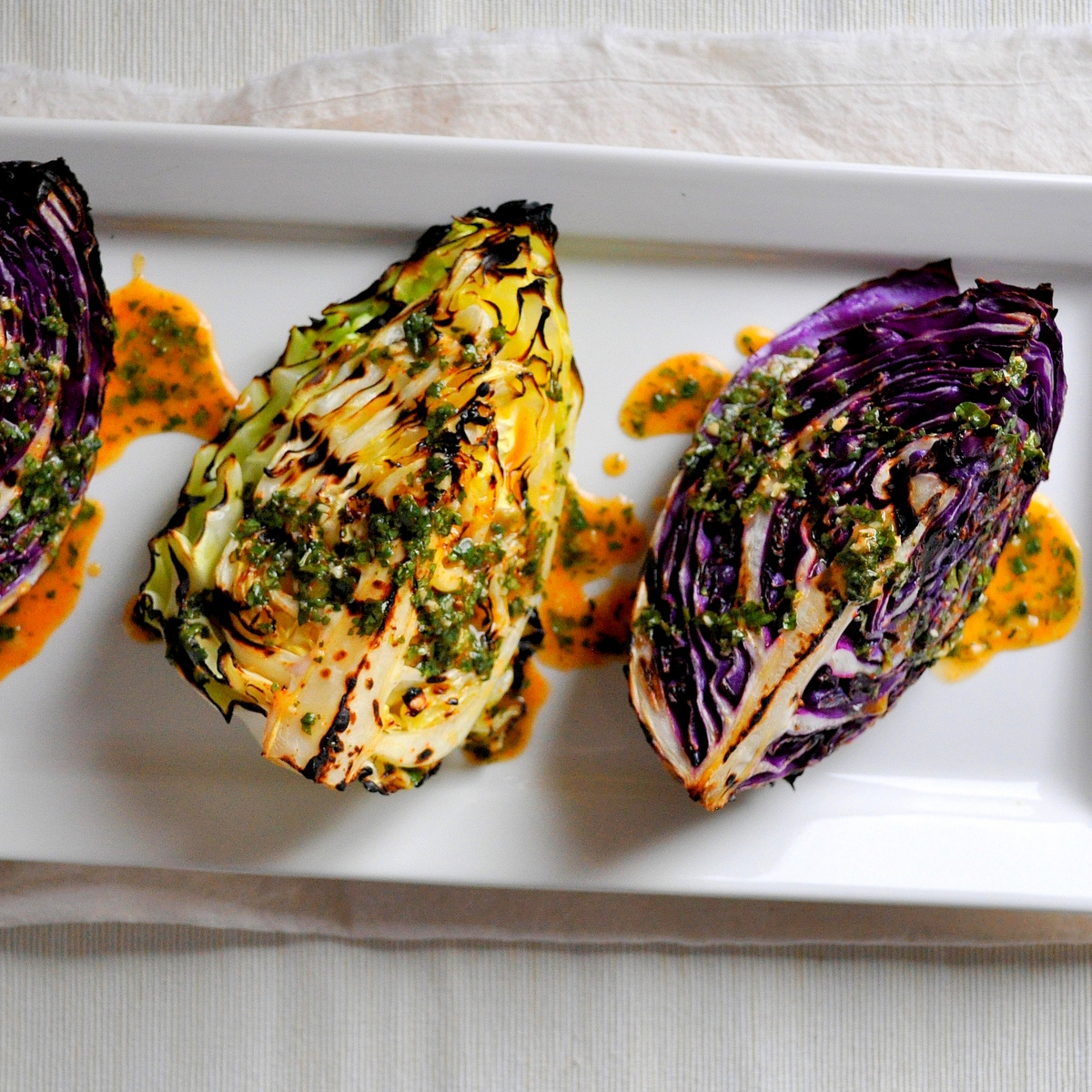 BREANNA'S RECIPE BOX: Grilled Cabbage Wedges with Spicy ...