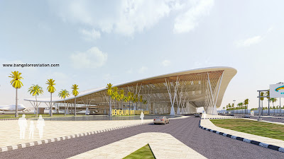 Bengaluru International Airport Terminal 1 expansion plan side view