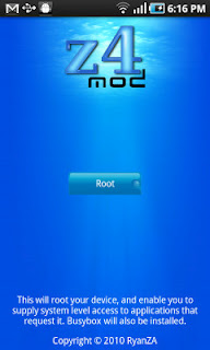 Android phone Z4root,Root your android phone