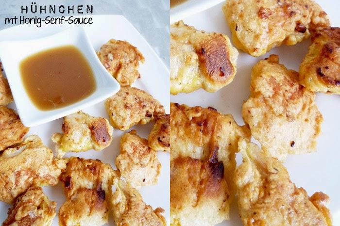 Hühnchen mit Honig-Senf-Sauce