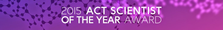 2015 ACT Scientist of the Year award banner
