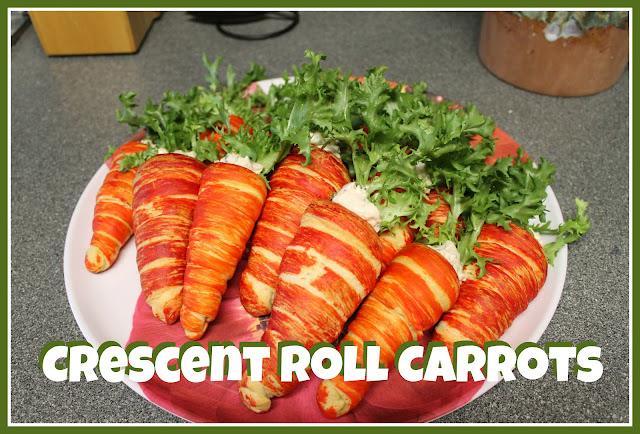 Украшение и необычные способы подачи блюд,салатов,выпечки и бутербродов . Crescent+roll+carrots