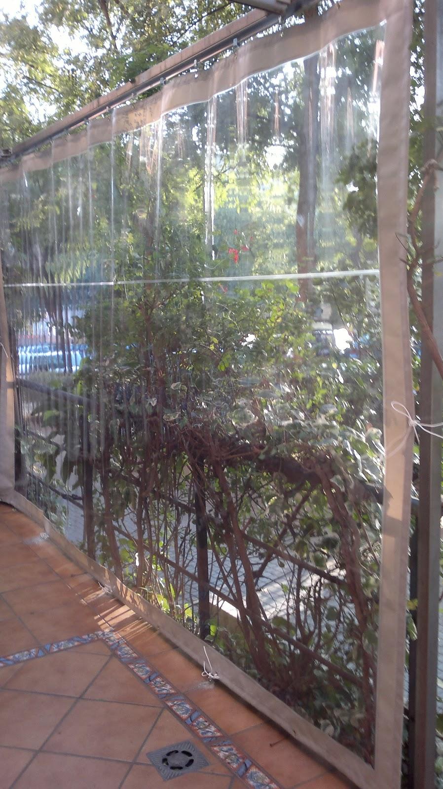 Toldos campos cerramiento terraza con cortina pvc - Cerramientos de pvc para terrazas ...