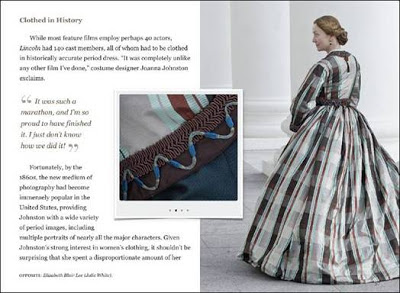 Details used to produce era appropriate wardrobe for Lincoln Movie