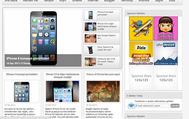 Blogger Portal Teması