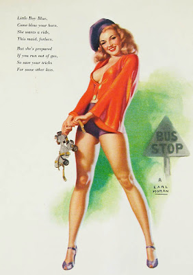 Marilyn Monroe Bus stop pin up