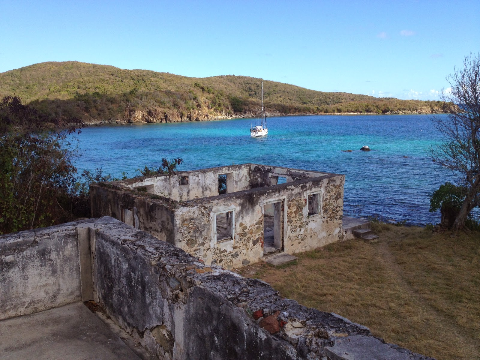 c time the only boat in harbor at little lameshur bay st john