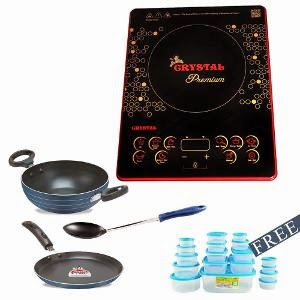 Buy Crystal Premium Induction Combo at Homeshop18 : Buy To Earn