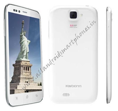 Karbonn S5 Titanium Dual Sim Phablet White Color  Image & Photo Review