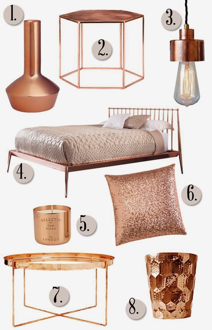 brittany makes blog - Chambre Rose Gold