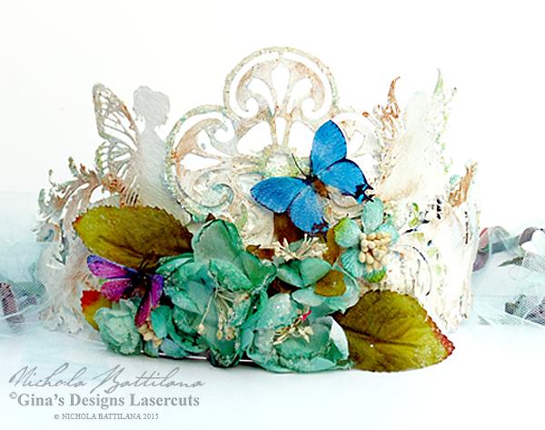 Garden Fairy Crown with tutorial - Nichola Battilana