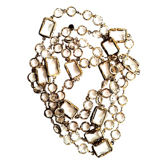 Vintage 1980's gold and crystal Chanel necklace