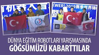 Dünya Eğitim Robotları Yarışmasında Göğsümüzü Kabarttılar