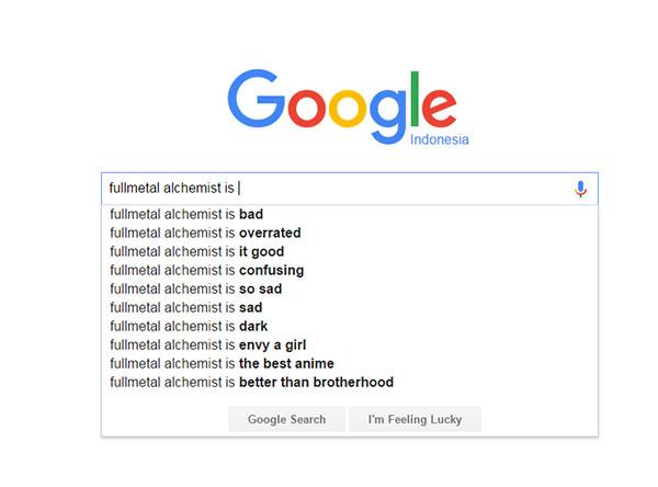 Fullmetal Alchemist - score/nilai dari Google