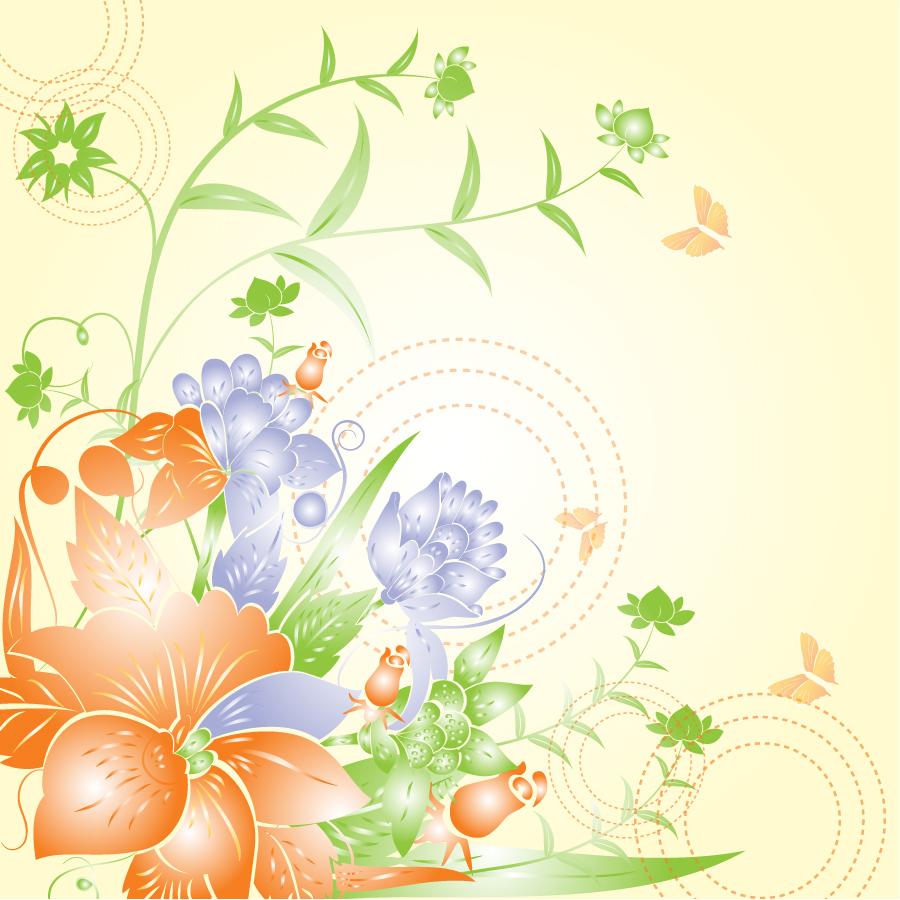 光を浴びた花ビラの背景 abstract yellow floral pattern イラスト素材