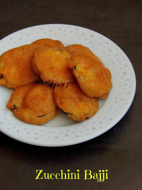 Zucchini Bajji, Courgette Fritters