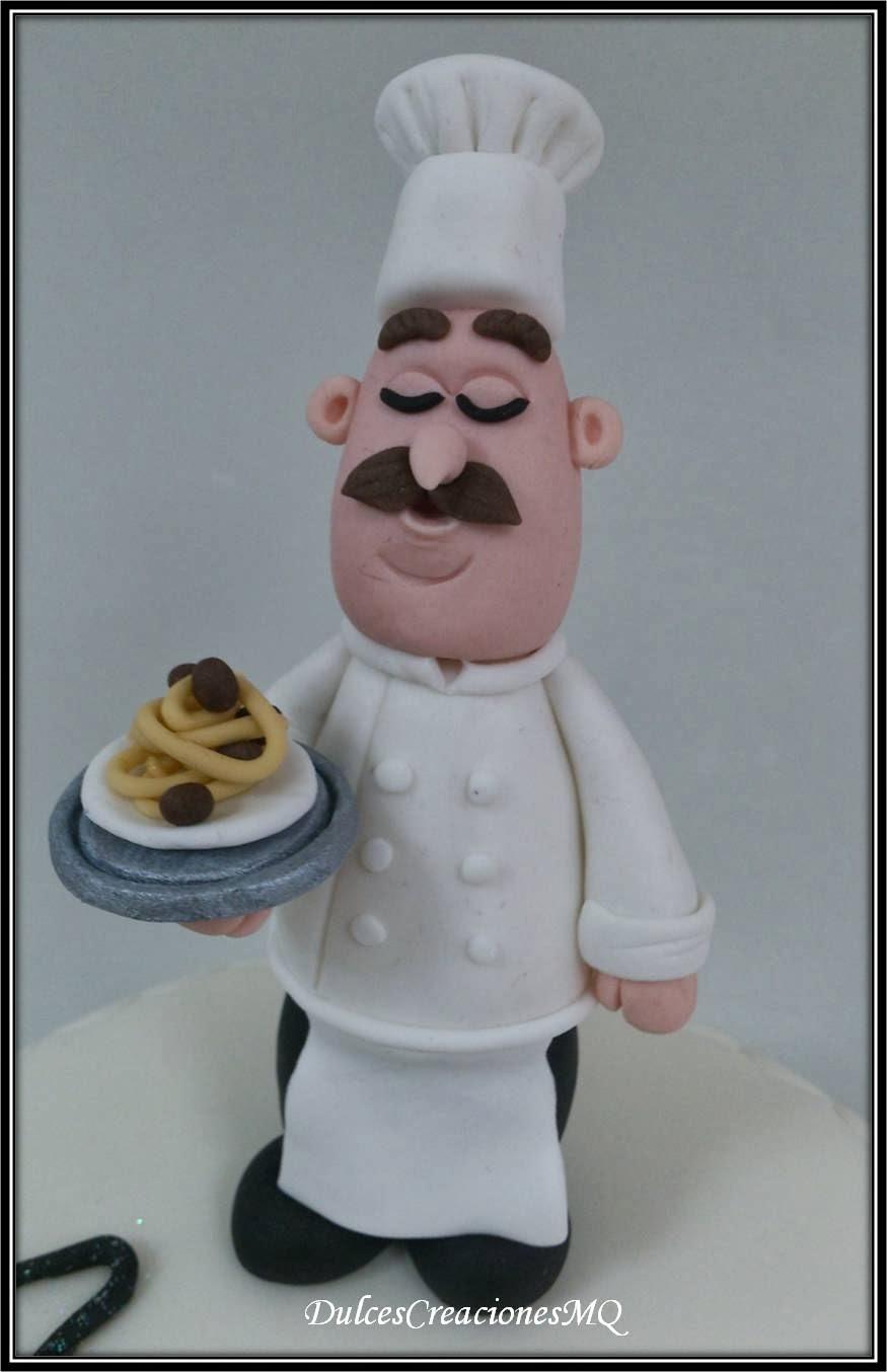 Tarta Pastel Chef Torta Il Cuoco Cocinero  Tallarines Spaguetti Restaurante Fondant Dulce Bizcocho Red Velvet Buttercream Queso Mascarpone Vainilla Terciopelo Rojo Cumpleaños Adulto Aniversario