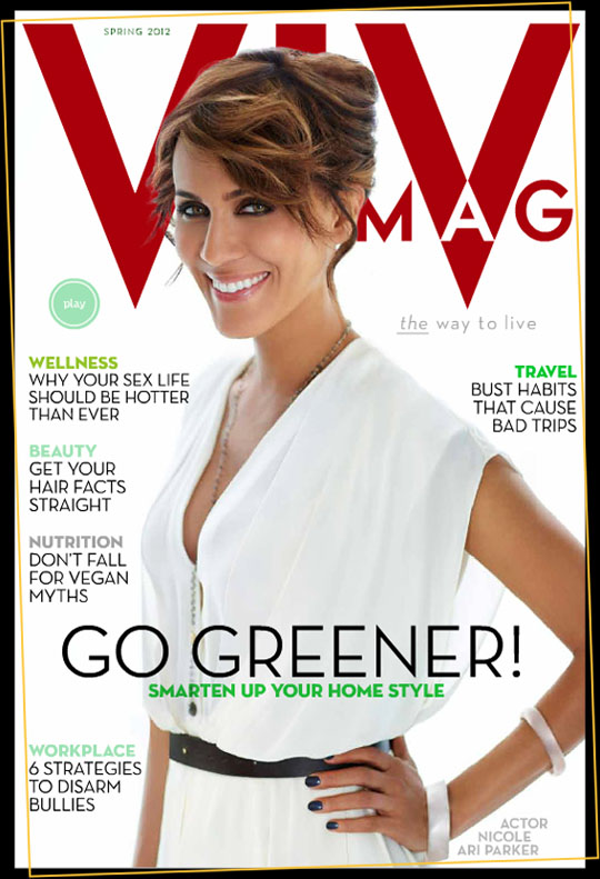 VIV magazine's Spring 2012 issues features actress Nicole Ari Parker.