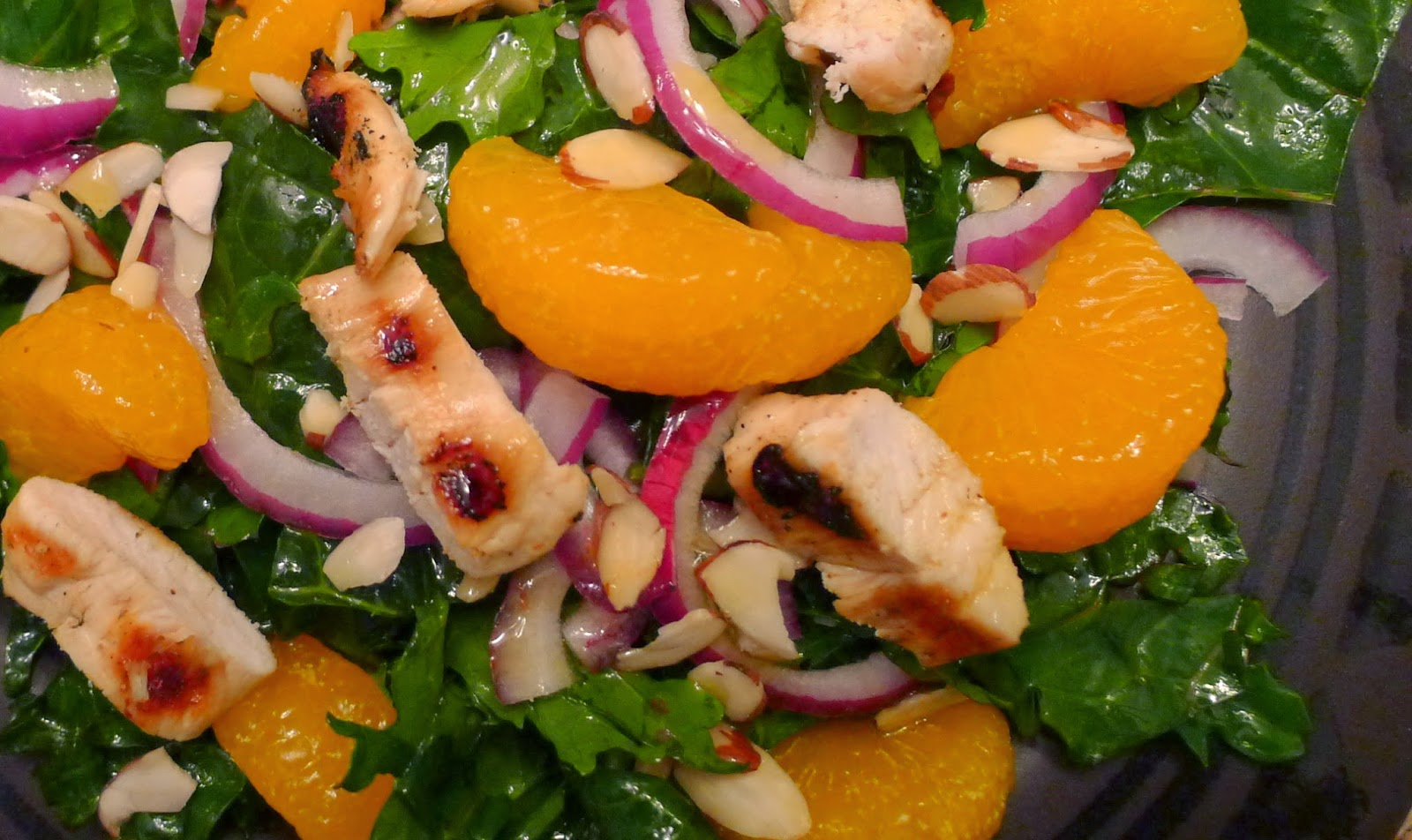 Softened Kale, Chicken and Citrus Salad
