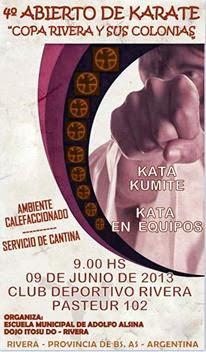 4º ABIERTO DE KARATE COPA RIVERA Y SUS COLONIAS (RIVERA 09/06/2013)