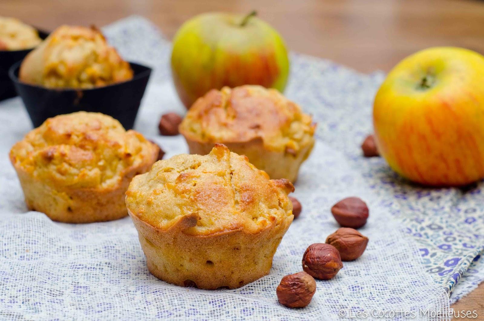 les muffins aux pommes et butternut les cocottes moelleuses. Black Bedroom Furniture Sets. Home Design Ideas