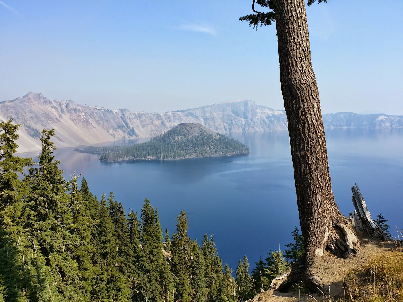 Wizard Island inside Crater Lake