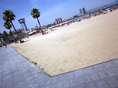 Beach of San Sebastia in Barcelona