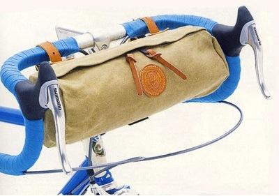 本日の革細工:自転車用バッグ ...