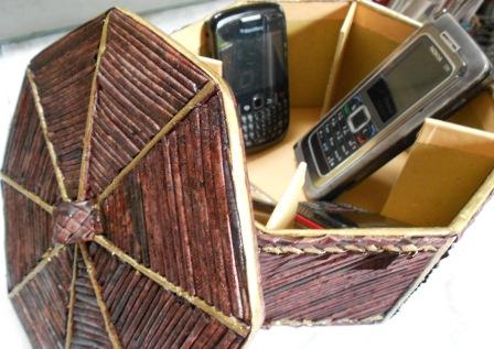 Kerajinan Tangan: Kerajinan tangan dari kertas - box tempat hp