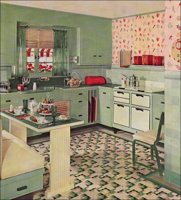 Vintage clothing love vintage kitchen inspirations 1930 39 s - Retro home design ...
