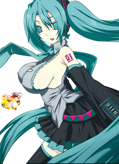 Tags: Anime, Render,  Hatsune Miku,  Vocaloid, PNG, Image, Picture