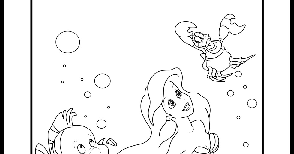 little mermaid sisters coloring pages - photo#30